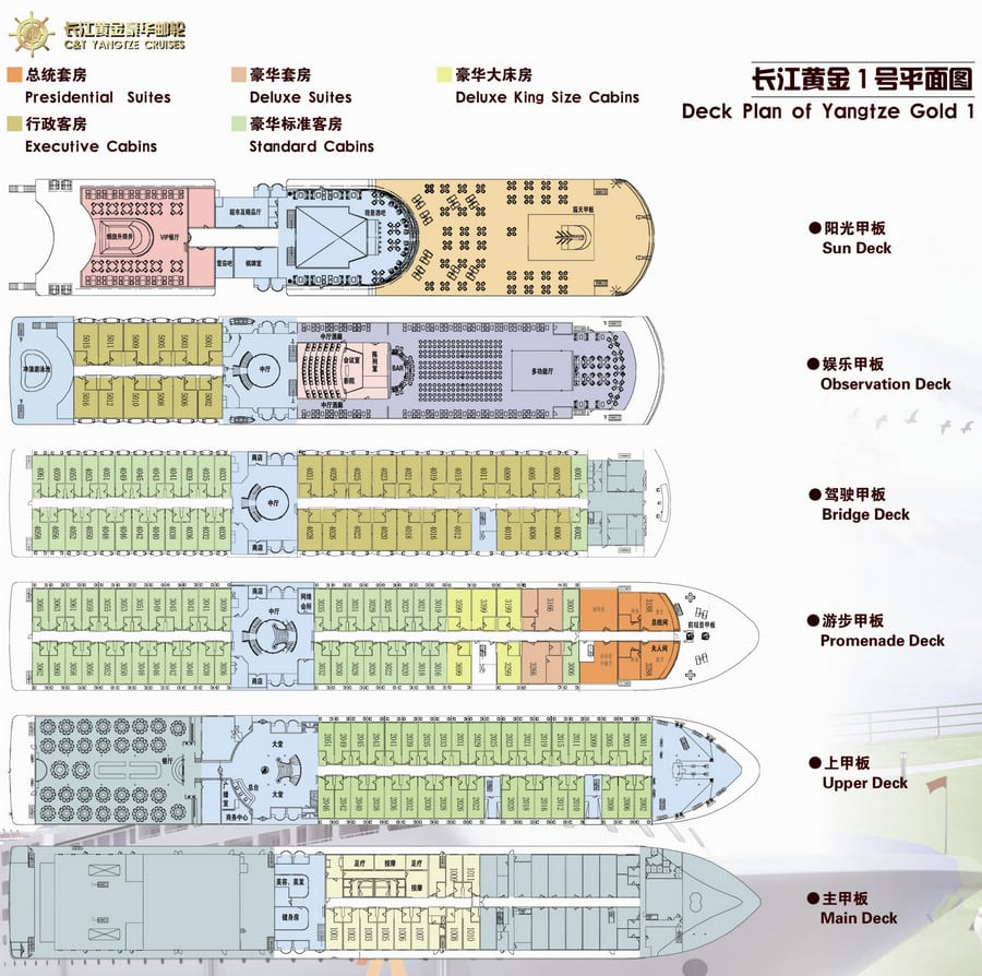 Yangtze Gold 1 Cruise Luxury Yangtze River Cruise