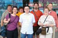 Before flying out from Yichang Nancy family from Florida