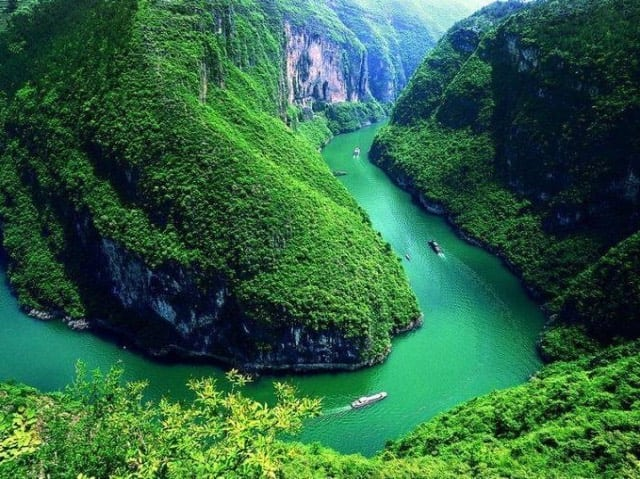 The Beautiful Scenery of the Lesser Three Gorges