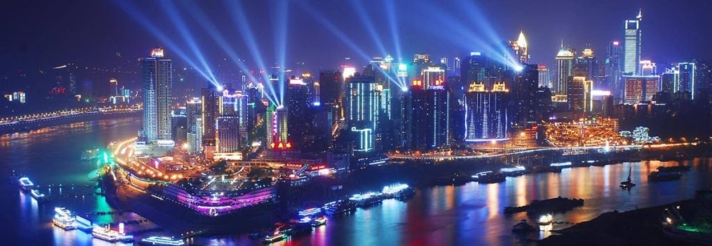 Chongqing evening view, Get to Chongqing