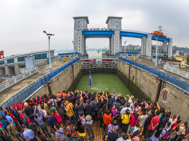 Going Through Gezhouba Dam Ship Lock