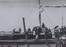The First Steamer to Pass the Three Gorges