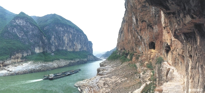 Bellow Gorge before the built of Three Gorges Dam