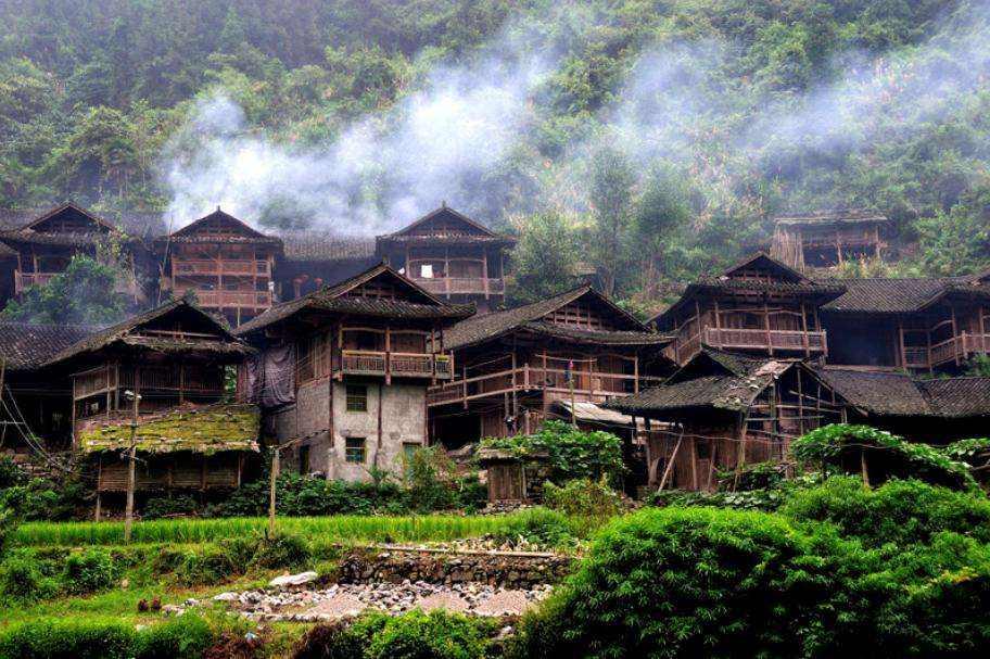 Stilt House of Tujia Ethnic Groups