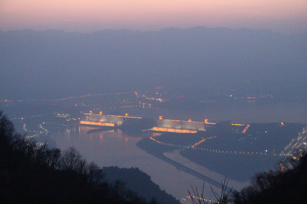 Three Gorges Dam from Yellow Ox Peak