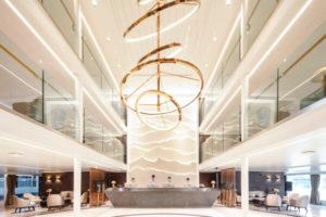 Yangtze River cruise ship Atrium Lobby