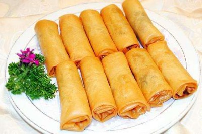 Yangtze River Cruise Meals - Spring Rolls