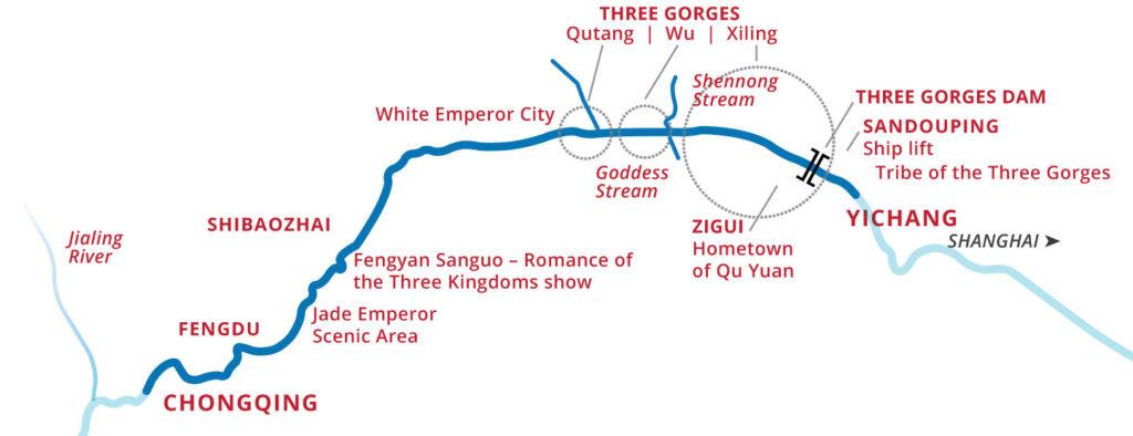 Victoria Cruises Itinerary Map